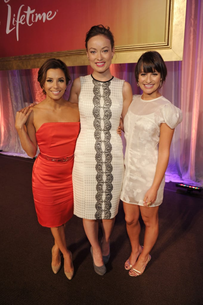 Lea linked up with Olivia Wilde and Eva Longoria for Variety's Power of Women event in LA in September 2011.