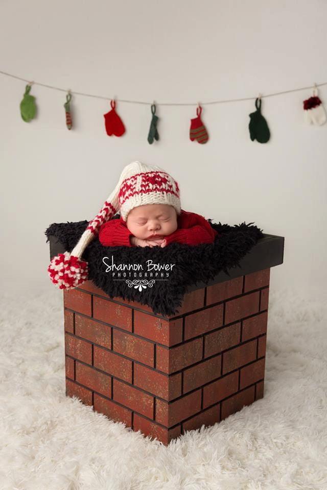 Chimney Christmas Photo Prop