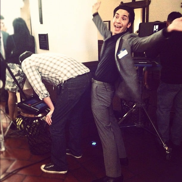 Justin Long had some fun on the set of 10 Years. Source: Instagram user nickzano