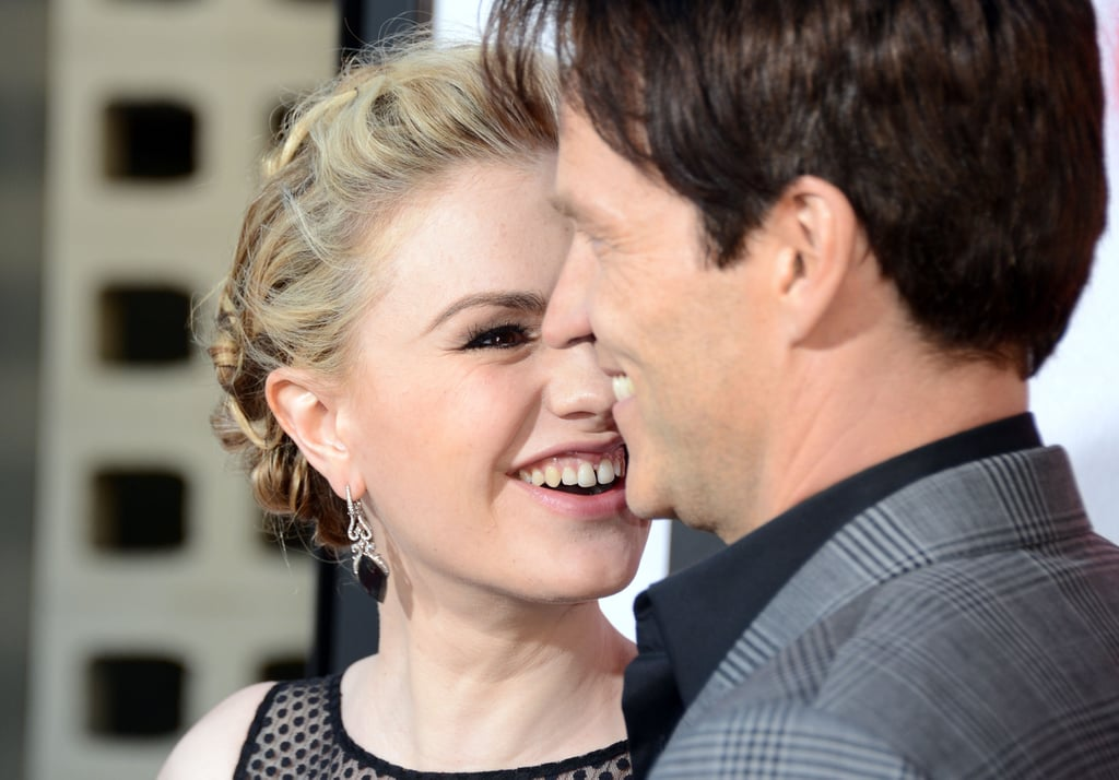 Anna Paquin gave her man a sweet glance on the red carpet at the Arc Light in Hollywood.