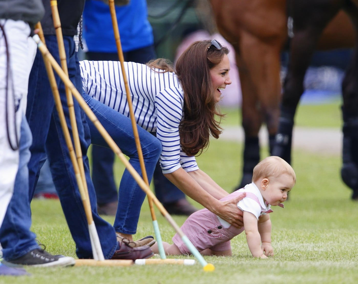 """""""OK — the queen isn't looking. Baby race time!"""""""
