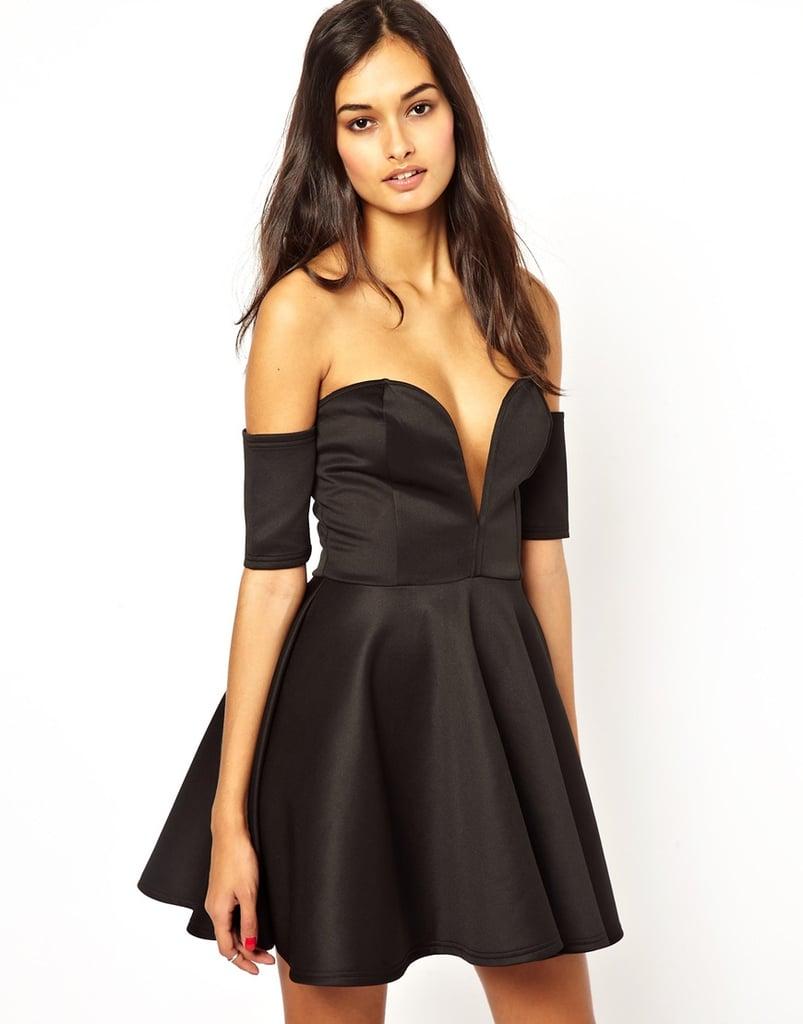 Club L off-the-shoulder black strapless sweetheart-neckline dress ($28, originally $75)