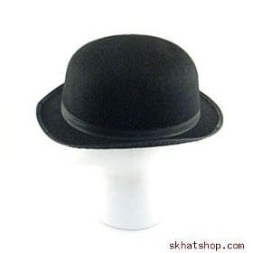 Black Felt Bowler Derby Hat- $10.95