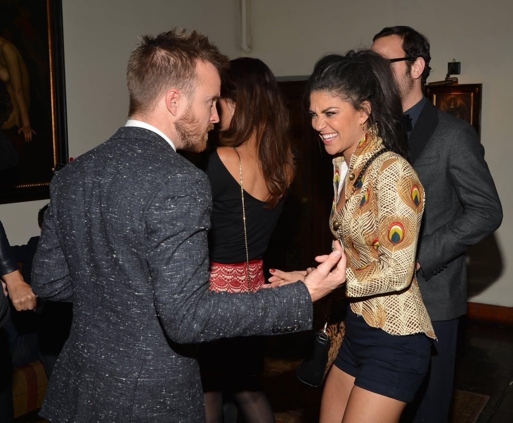 Aaron Paul gave Jessica Szohr a laugh.