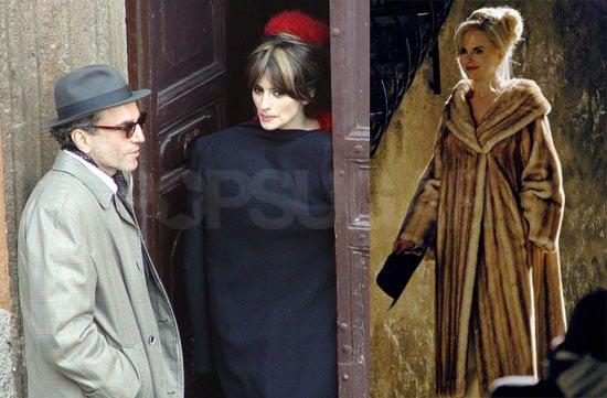Photos of Penelope Cruz, Daniel Day-Lewis and Nicole Kidman on the Rome set of Nine