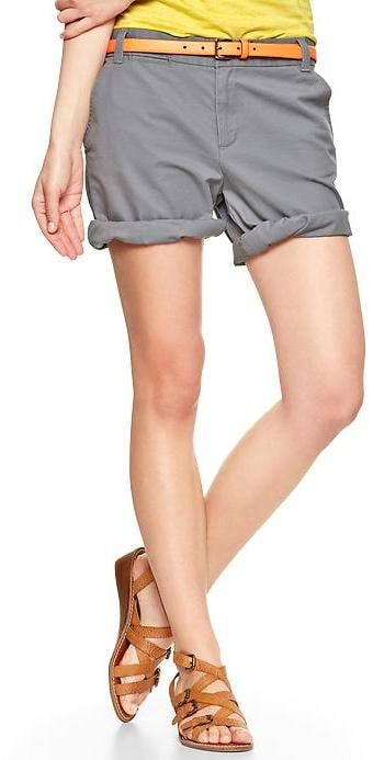 Gap's boyfriend roll-up shorts ($40) come in a variety of fun colors — we can't get enough of the slouchy fit.