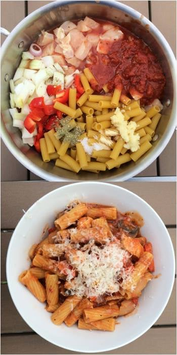 One-Pot Chicken Rigatoni