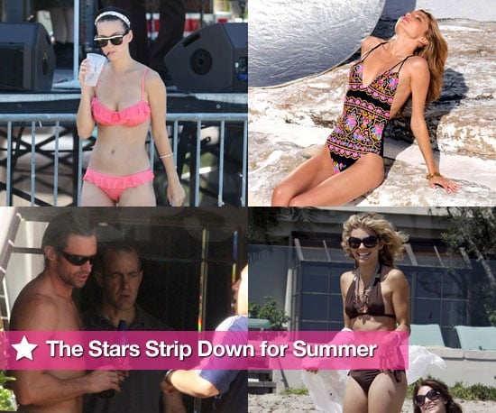 Bikini and Shirtless Photos of Celebrities at the Beach