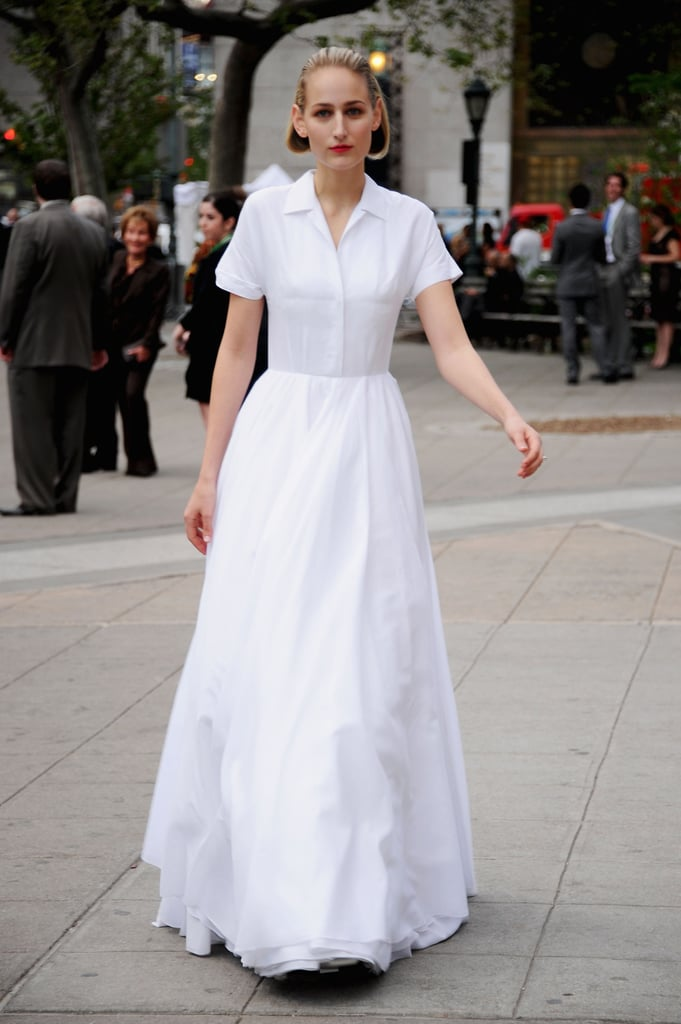 Leelee Sobieski arrived at the Vanity Fair Party at the 2012 Tribeca Film Festival.