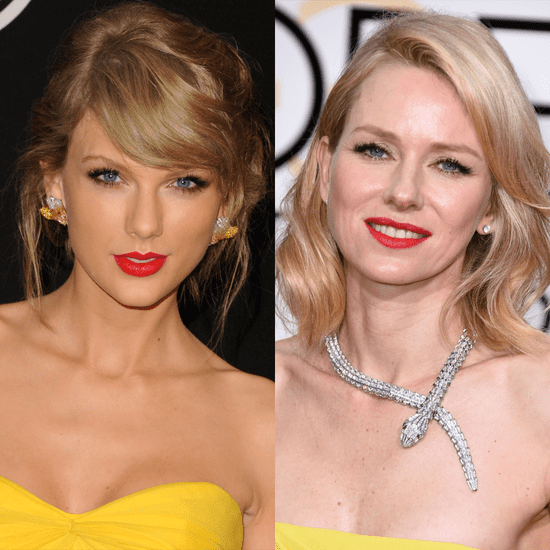 Taylor Swift and Naomi Watts Beauty at 2015 Golden Globes