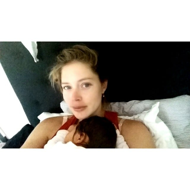 Doutzen Kroes enjoyed a sweet snuggle with baby Myllena.  Source: Instagram user doutzen