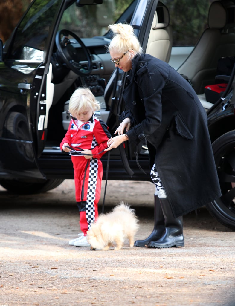 Gwen Stefani and Zuma took their pup for a walk in LA.