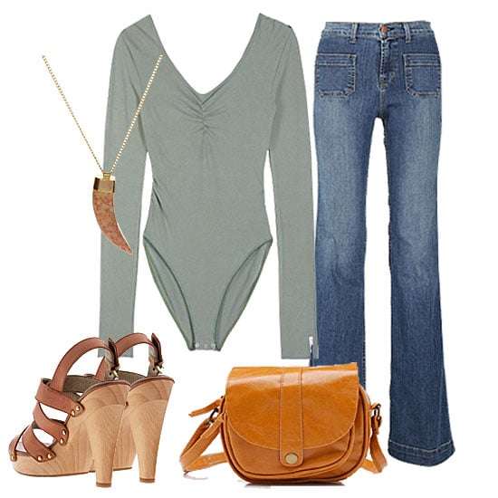 How to Wear a Bodysuit: '70s Casual