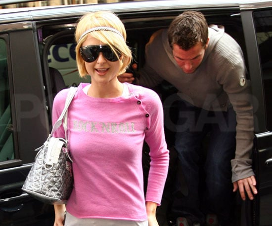 Photo of Paris Hilton and Doug Reinhardt Arriving at Their London Hotel