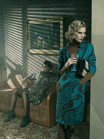 Iselin Steiro, Kinga Rajzak Give Fall 2008 Missoni Their Prints