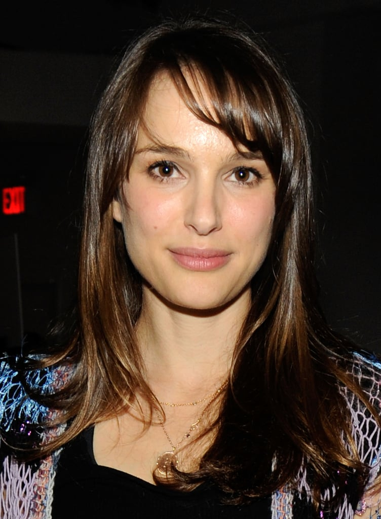 In 2012, Natalie gave sideswept bangs a go.
