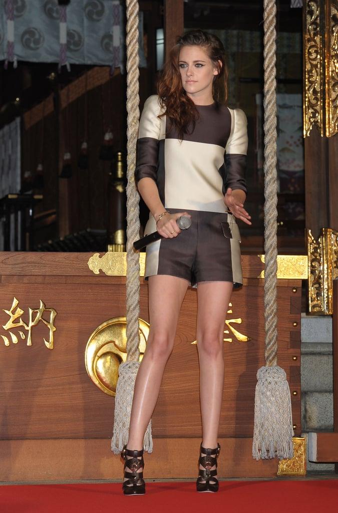Kristen Stewart stepped out in Japan.
