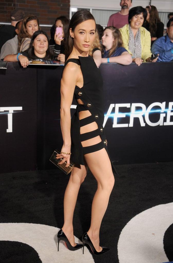 Maggie Q at the Divergent Los Angeles Premiere