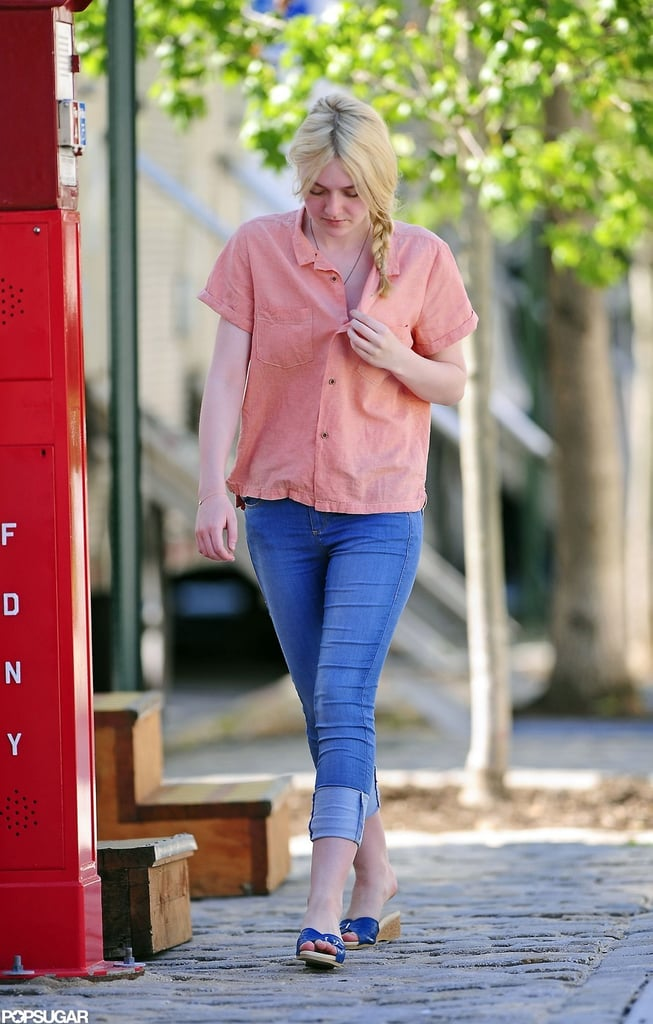 Elizabeth Olsen and Dakota Fanning Report For a Very Good Day at Work