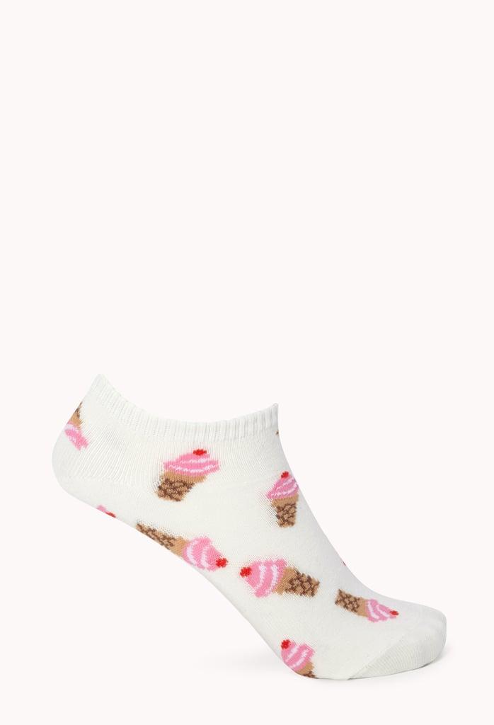 Forever 21 Ice Cream Ankle Socks
