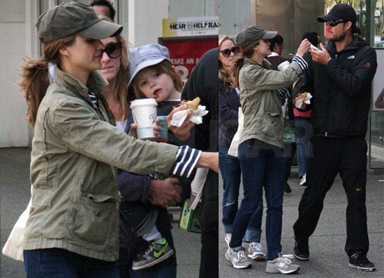 Pictures of Keri Russell And Husband Shane Deary in Canada With Son River