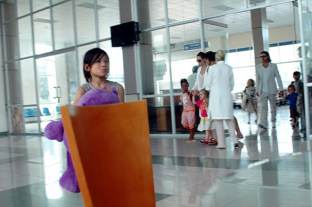 Pax Jolie-Pitt arrived at the Con Dao Island airport in Vietnam with Brad Pitt, Angelina Jolie, and his siblings Maddox, Zahara, Shiloh, Knox, and Vivienne Jolie-Pitt.