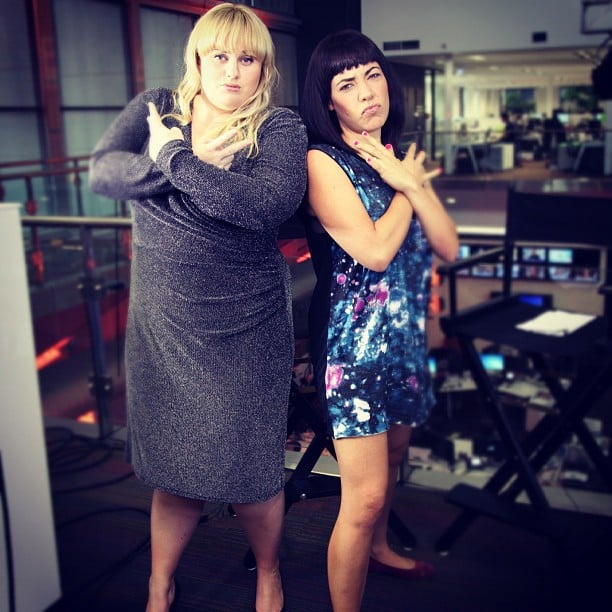 The Loop's Ash London posed for a potential album cover with Rebel Wilson. Source: Instagram user ash_london