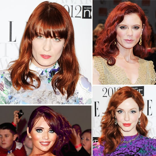 Famous Redheads Emilia Fox, Christina Hendricks, Florence Welch, Amy Childs