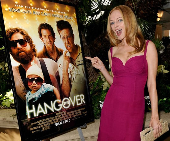 Slide Photo of Heather Graham Posing With a Hangover Poster in LA