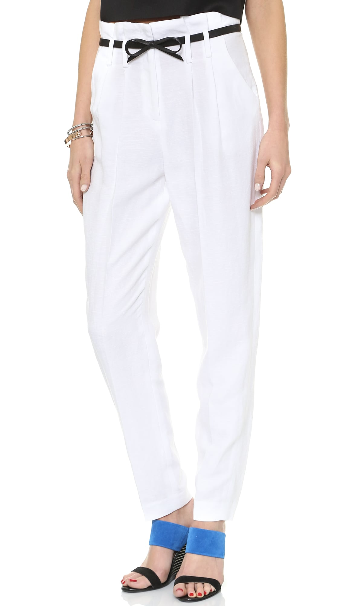 Milly Paper-Bag Waist Trousers