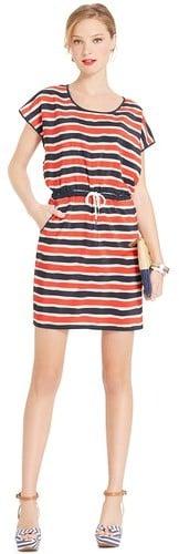 Tommy Hilfiger Women's Blouson Stripe Dress