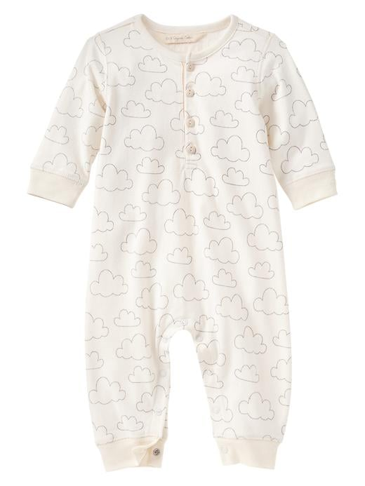 BabyGap Organic Cloud Henley One-Piece