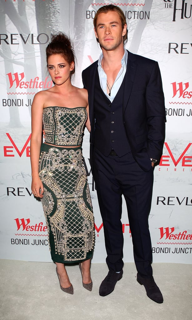 Kristen Stewart and Chris Hemsworth came to Sydney for the premiere of SWATH on June 19.