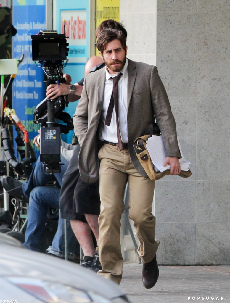 Jake Gyllenhaal was on set in Canada.