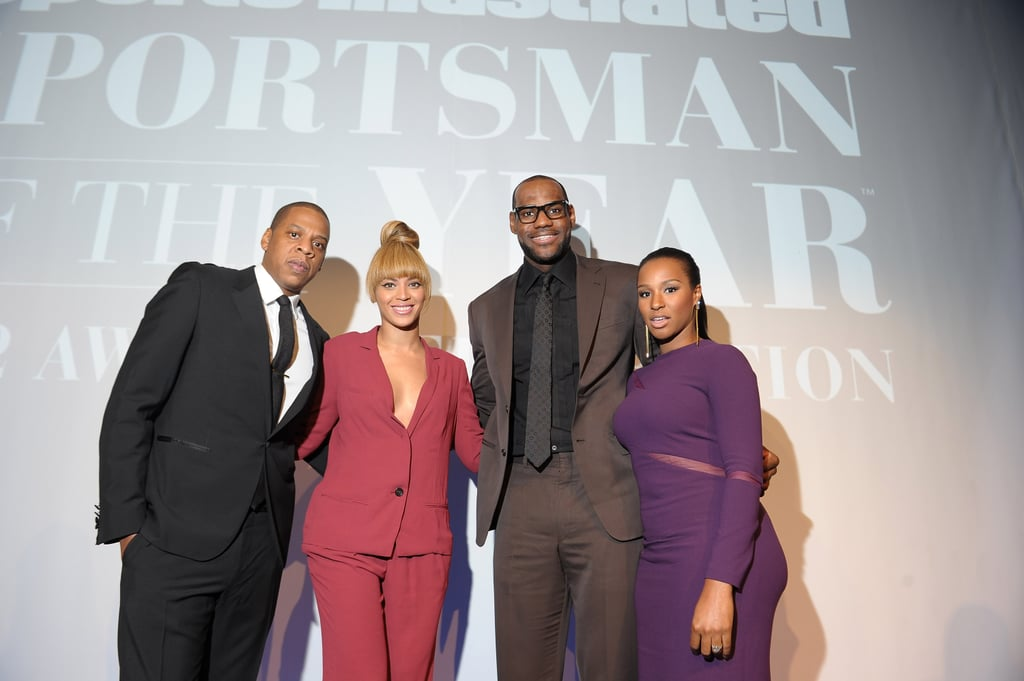 LeBron James and Jay Z wore suits to attend the event.