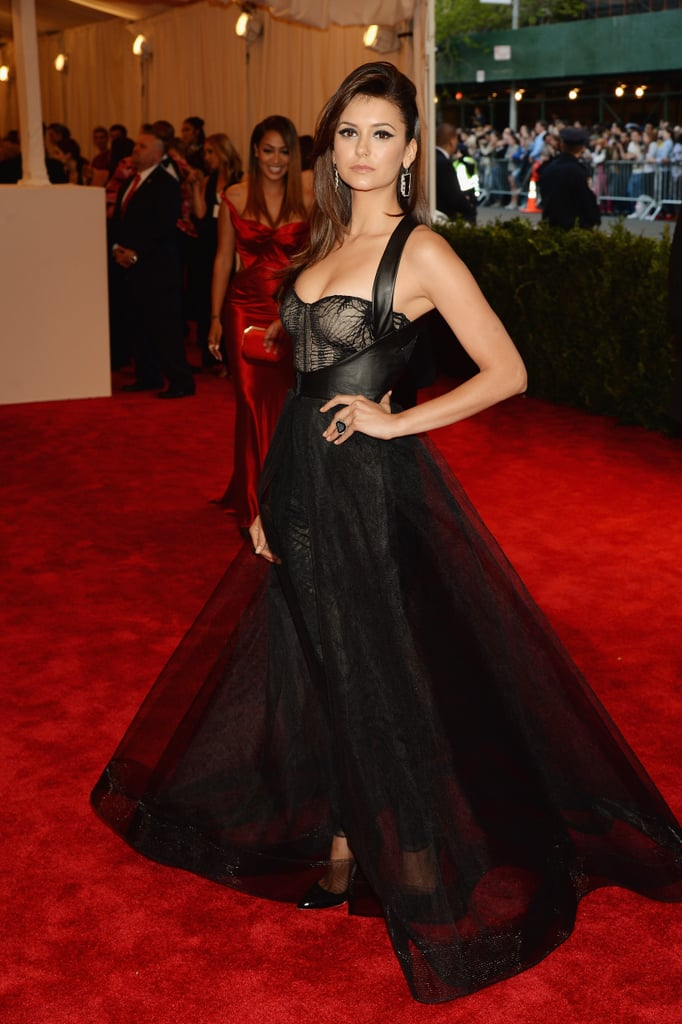 Nina Dobrev wowed us in a custom Monique Lhuillier number.