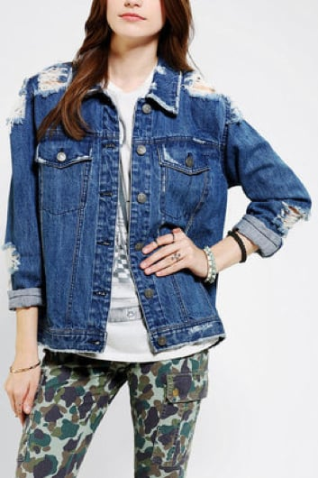 Get a perfectly broken in and a tad bit oversized denim jacket with this BDG denim boyfriend jacket ($40, originally $79).
