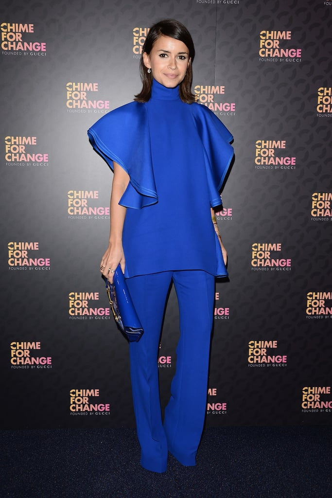 Miroslava Duma, in Gucci, at the Chime For Change: The Sound of Change Live concert, presented by Gucci, in London.