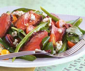 Monday's Leftovers: Grilled Steak Salad with Green Beans and Blue Cheese