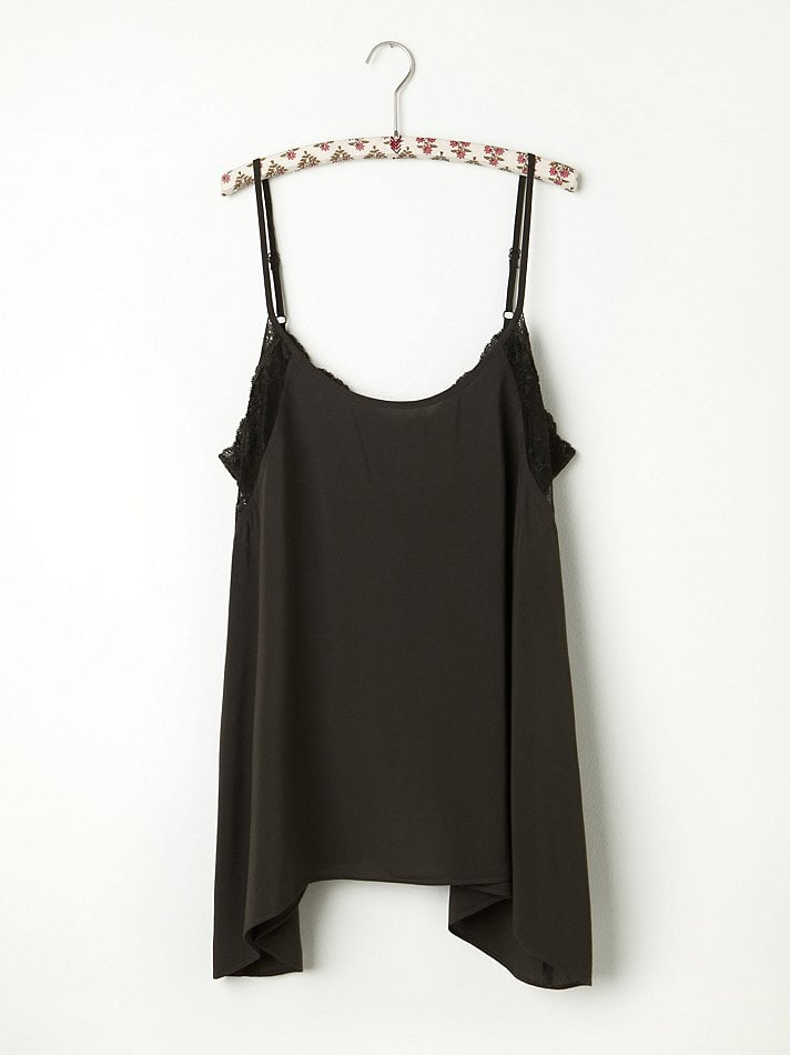 This Free People lace inset swing cami ($48) is the epitome of understated sex appeal. The sheer lace detailing hints at something to be revealed, and the relaxed feel of the flyaway back is what being sultry and carefree is all about.