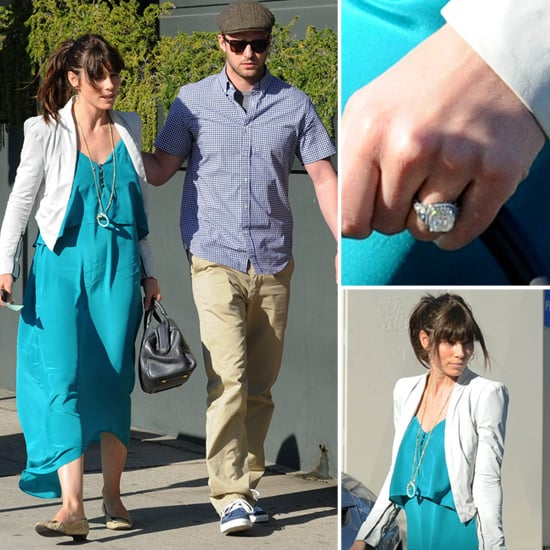 Jessica Biel Engagement Ring Pictures
