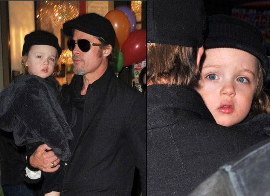 Brad Pitt and Angelina Jolie with Knox and Vivienne in NYC