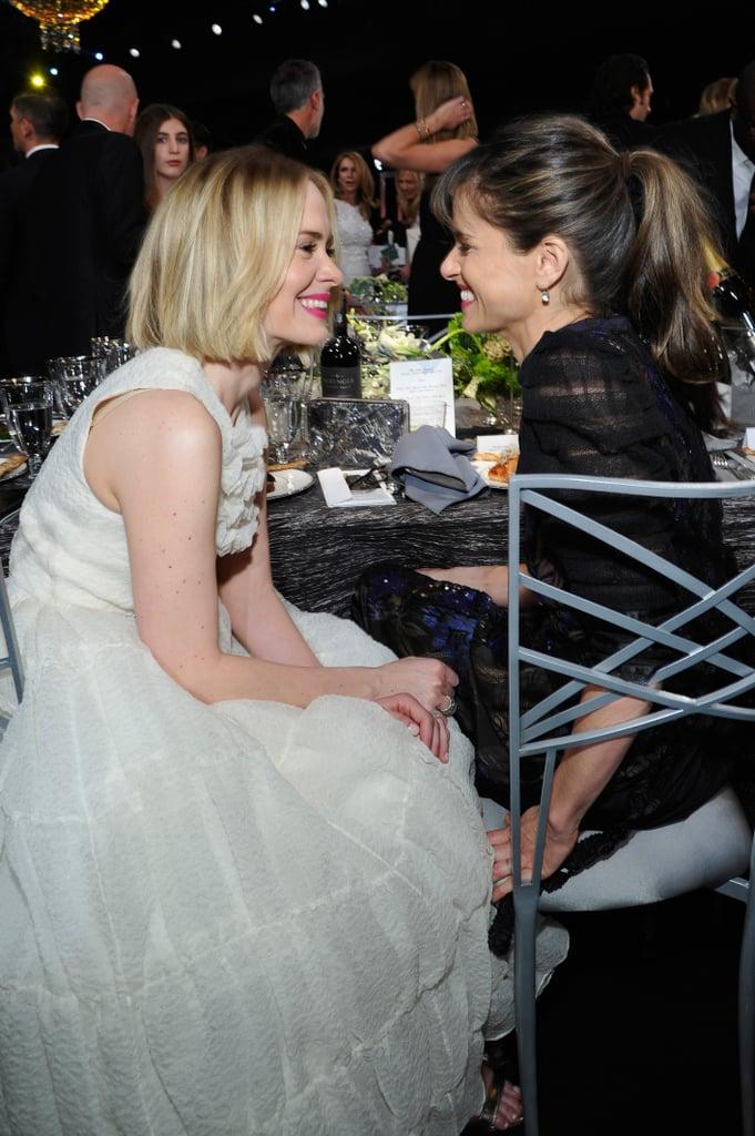 Sarah Paulson and Amanda Peet looked at each other adorably at the SAG Awards.