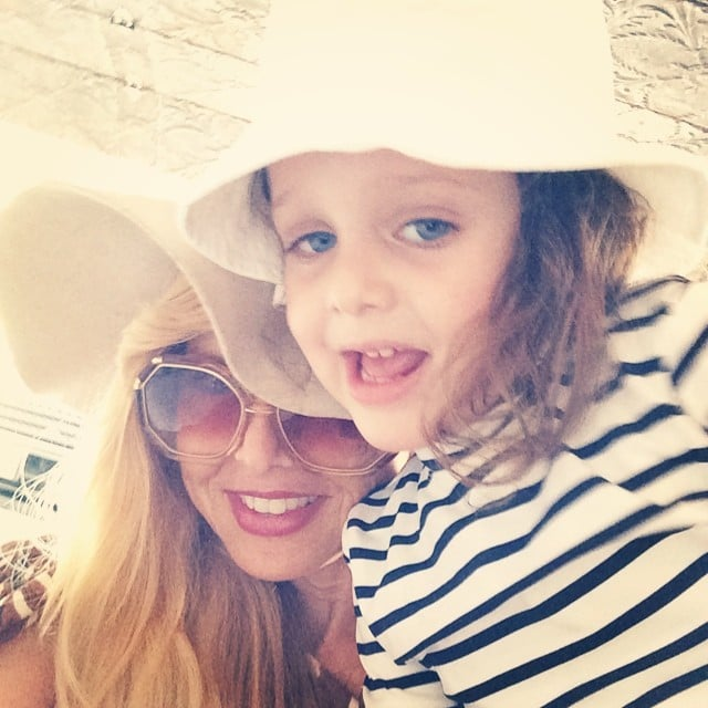 Rachel Zoe and Skyler Berman topped off their beach looks with matching hats. Source: Instagram user rachelzoe