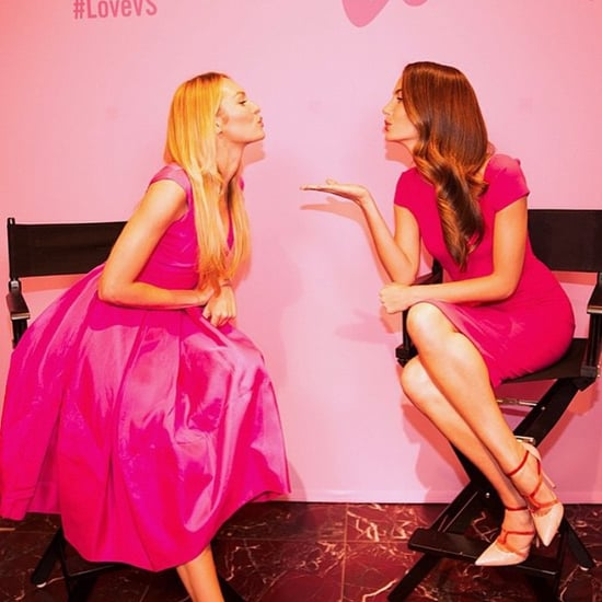 Candice Swanepoel and Lily Aldridge on Valentine's Day