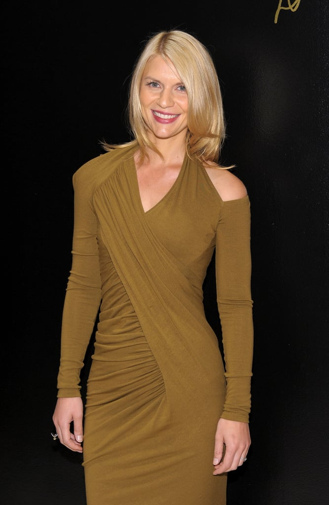 Claire Danes looked chic in a Donna Karan sheath dress at a Saks Fifth Avenue event in 2010.