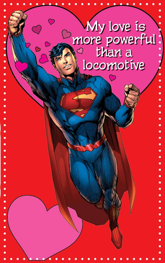 This valentine proves Superman is QUITE the charmer. Find it in the Young Romance book ($10).