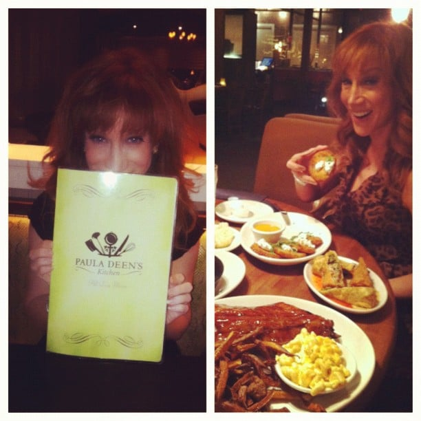 Kathy Griffin indulged herself at Paula Deen's restaurant in North Carolina. Source: Instagram user kathygriffin
