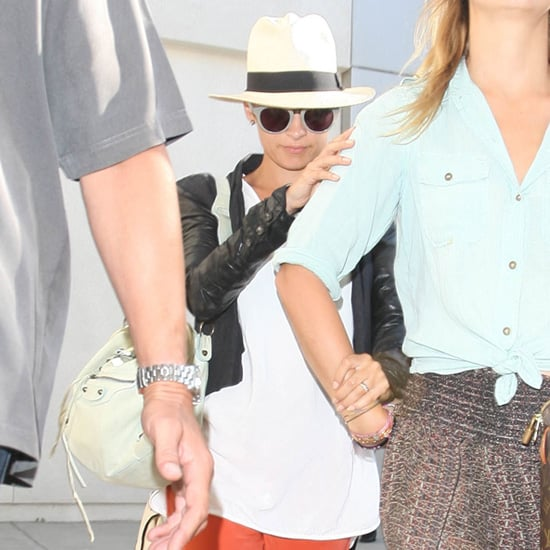 Nicole Richie Wearing Orange Pants