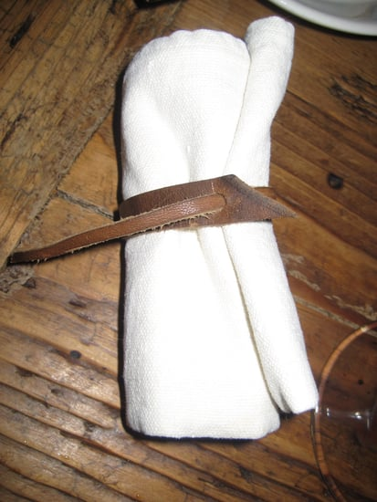 Easy and Affordable Leather Napkin Rings